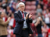 Mark Hughes in charge of Stoke City on May 13, 2018