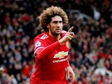 Marouane Fellaini in action for Manchester United on April 29, 2018