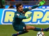 Mattia Perin in action for Genoa on April 18, 2018