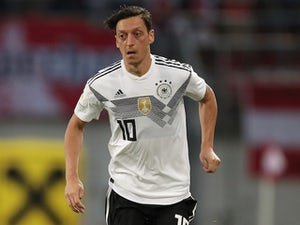 Mesut Ozil in action for Germany against Austria on June 2, 2018