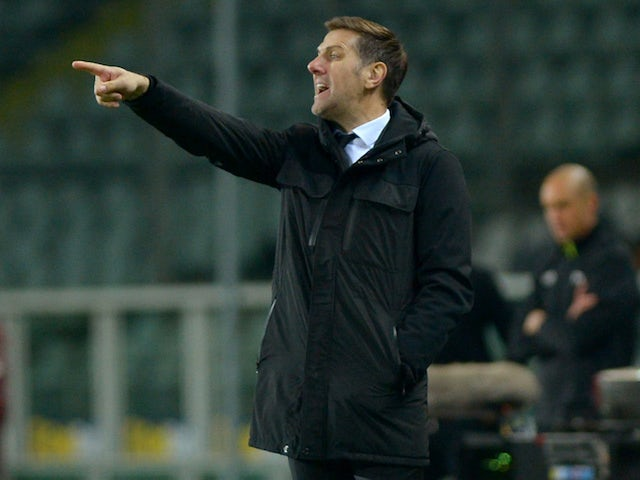 Serbia manager Mladen Krstajic on March 23, 2018