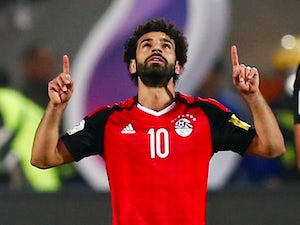 Mohamed Salah in action for Egypt during a World Cup qualifying match with Congo in October 2017