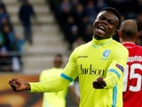 Moses Simon in action for Gent in November 2016