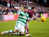 Hearts' Blazej Augustyn in action with Celtic's Nadir Ciftci on December 27, 2015