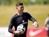 Nick Pope during an England training session on May 22, 2018