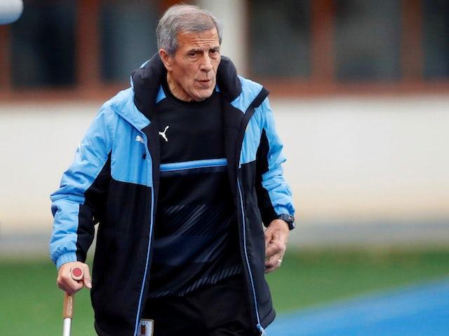 Uruguay manager Oscar Tabarez on November 13, 2017