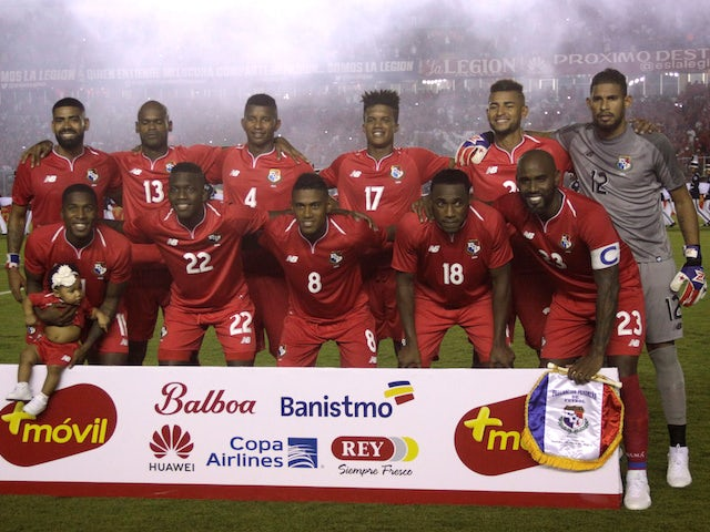 40ef63a1d The Panama team lines up ahead of their World Cup warm-up game with Northern