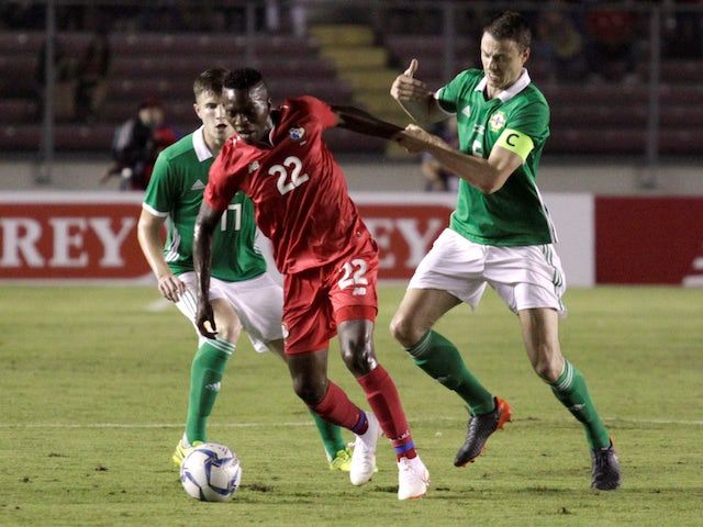 Panama's Jose Rodriguez in action with Northern Ireland's Jonny Evans during an international friendly in May 2018