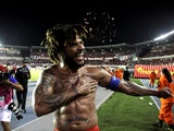 Panama captain Roman Torres celebrates after scoring the goal which sent his side to their first ever World Cup