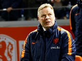 Netherlands coach Ronald Koeman before the match against England on March 23, 2018