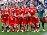 The Russian team poses ahead of their international friendly with Turkey in June 2018