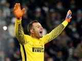 Inter Milan's Samir Handanovic during the match against Juventus on December 9, 2017