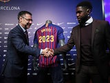 Samuel Umtiti signs a new deal with Barcelona on June 4, 2018