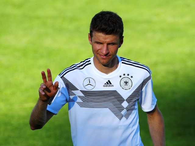 Germany's Thomas Muller during training ahead of the 2018 World Cup