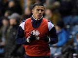 Millwall's Tim Cahill warms up for the match against Cardiff City on February 9, 2018