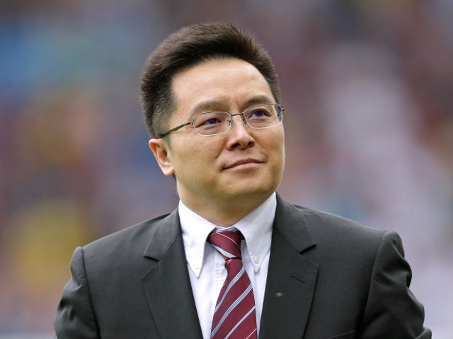 Aston Villa owner Tony Xia pictured on August 13, 2016