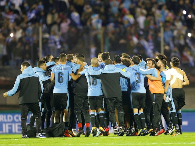 Uruguay celebrate qualifying for the World Cup in October 2017