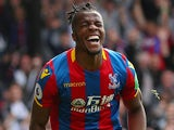Wilfried Zaha in action for Crystal Palace on May 13, 2018