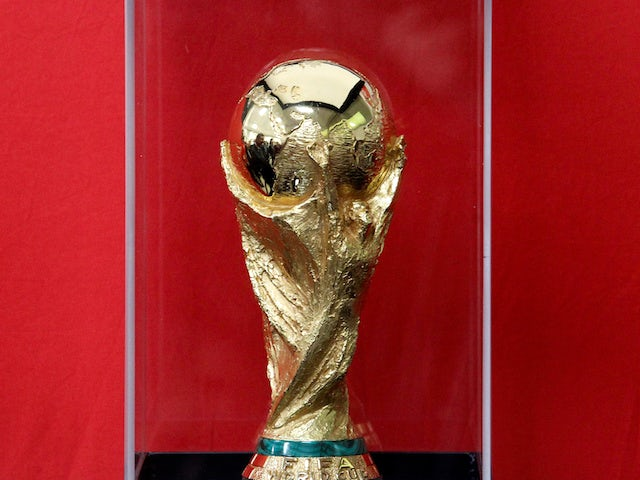 The World Cup trophy pictured in February 2018