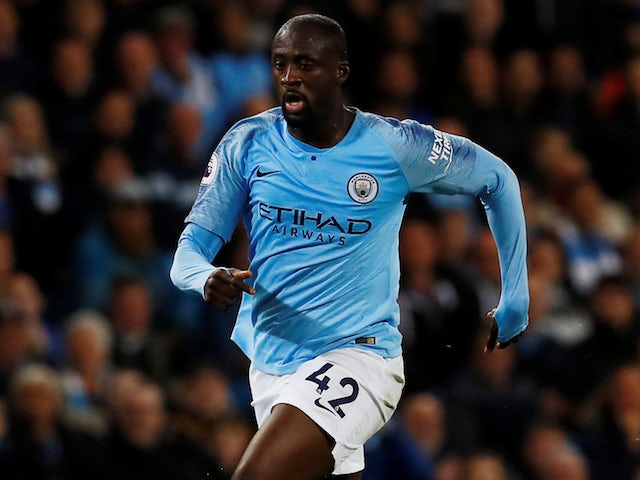 Yaya Toure in action for Manchester City on May 9, 2018