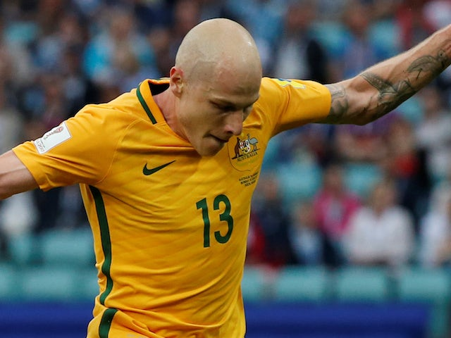 Aaron Mooy in action for Australia on June 19, 2017