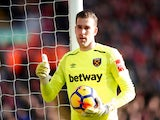West Ham United's Adrian in action against Liverpool on February 24, 2018