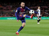 Barcelona's Aleix Vidal in action in the Copa del Rey semi-final against Valencia on February 1, 2018