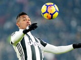 Alex Sandro in action for Juventus in the Coppa Italia on February 28, 2018