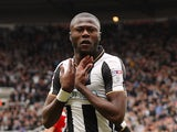 Chancel Mbemba in action for Newcastle United in May 2017
