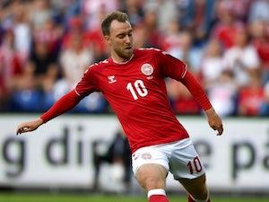 Christian Eriksen in action for Denmark on June 9, 2018