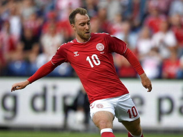 Christian Eriksen in action for Denmark on June 9, 2018