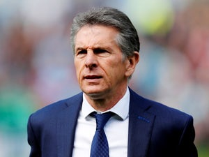 Leicester City manager Claude Puel at the game against Burnley on April 14, 2018