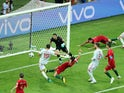 Diego Costa nabs the second equaliser during the World Cup group game between Portugal and Spain on June 15, 2018