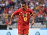 Eden Hazard in action for Belgium on June 2, 2018