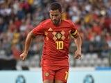 Eden Hazard in action for Belgium on June 2, 2018
