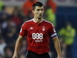 Eric Lichaj in action for Nottingham Forest in January 2017