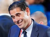 Fernando Hierro at the World Cup European playoff draw on December 1, 2018