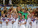 Germany's players celebrate their 2014 World Cup triumph