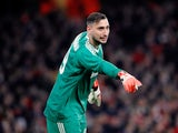 AC Milan goalkeeper Gianluigi Donnarumma in action during his side's Europa League clash with Arsenal in March 2018