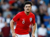 Harry Maguire in action for England on June 7, 2018