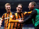 Hull City forward Harry Wilson, on loan from Liverpool, celebrates during a Championship clash with Ipswich Town in March 2018