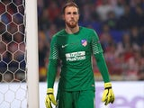 Atletico Madrid's Jan Oblak during the Europa League final against Marseille on May 16, 2018