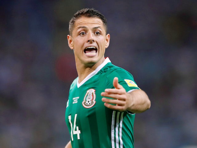 Javier Hernandez in action for Mexico on June 29, 2017