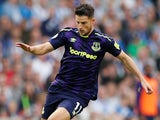 Kevin Mirallas in action for Everton on October 15, 2017