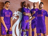 Liverpool players model their new away kit for the 2018-19 season