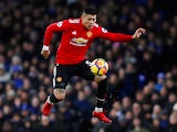 Marcos Rojo in action for Manchester United on January 1, 2018
