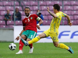 Morocco defender Mehdi Benatia in action during his side's international friendly with Ukraine in May 2018