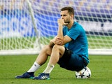 Real Madrid's Nacho during training for the Champions League final on May 25, 2018