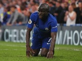 Chelsea's N'Golo Kante after sustaining an injury in the game against Huddersfield Town on May 9, 2018