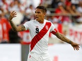 Paolo Guerrero in action for Peru on June 3, 2018